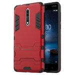 Slim Armour Tough Shockproof Hard Case for Nokia 8 - Red